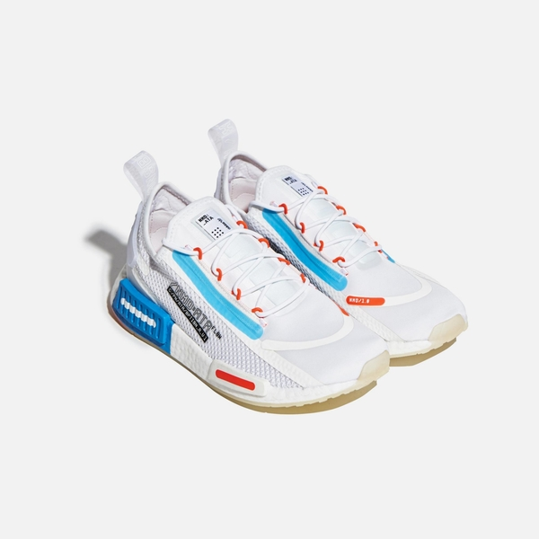 ADIDAS NMD_R1 SPECTOO 男款白藍經典休閒鞋-NO.FZ3629
