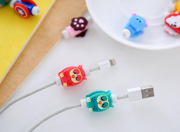 TwinS韓版【長款】手機數據線耳機線充電頭端頭接點保護套防斷裂 iphone/HTC/Samsung
