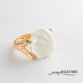 yunique Backyard  珍珠貝殼戒指