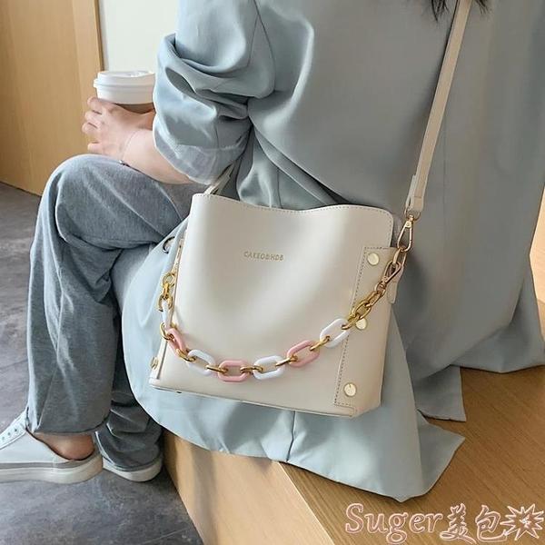 水桶包 簡約質感側背小包包女包2021流行新款潮時尚女士斜背包手提水桶包  新品