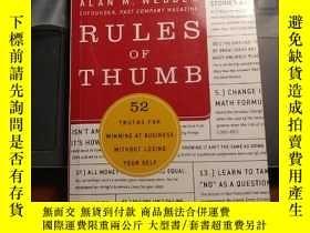 二手書博民逛書店Rules罕見of thumb(1)Y259600 alan m