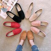 韓版孕婦社會懶人一腳蹬軟底單鞋女豆豆鞋百搭平底鞋夏  千千女鞋