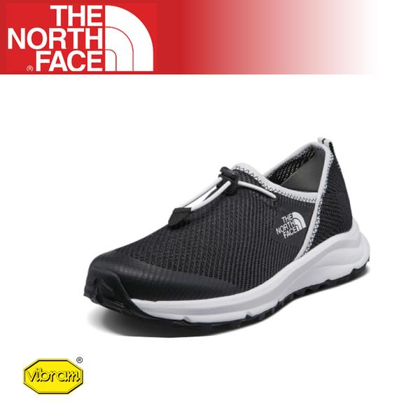 【The North Face 女 休閒鞋《黑/白》】3RDN//耐磨慢跑鞋/Vibram黃金大底/懶人鞋/透氣