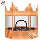 彈跳床 米修城堡蹦蹦床家用兒童室內外增高寶寶彈彈床小孩家庭戶外跳跳床T