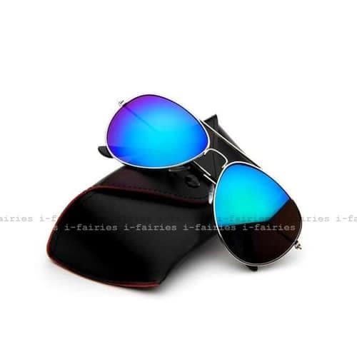 5天出貨★太陽鏡皮質眼鏡盒 軟包按扣便攜墨鏡盒★ifairies【30312】
