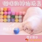 4個裝 貓咪玩具用品羊毛球貓球寵物磨牙啃咬逗貓【小獅子】