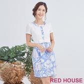Red House 蕾赫斯-花朵假兩件洋裝(共2色)