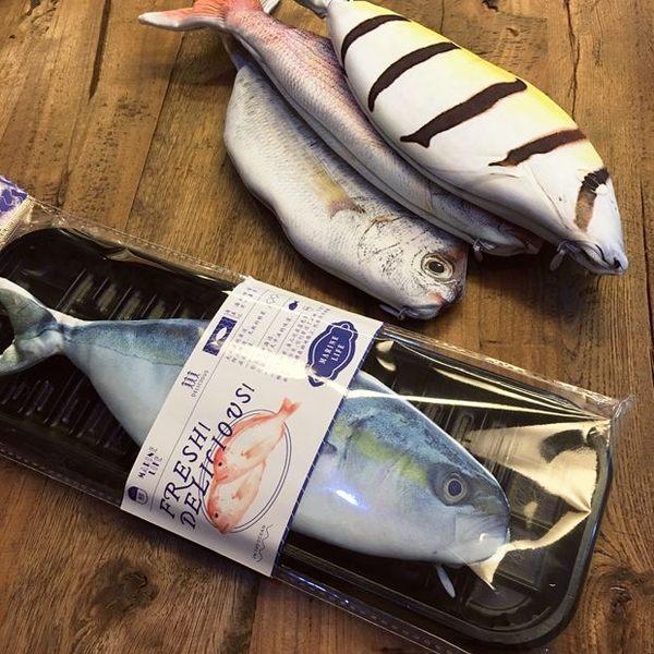 【00042】 韓國創意仿真魚筆袋 收納袋 海魚筆袋