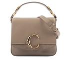 【CHLOE】Small C Bag 小牛皮手提/斜背兩用包(灰色) CHC19WS199A3723W