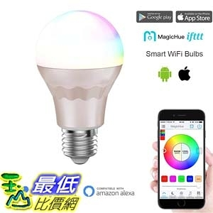 [7美國直購] 智能燈 Magic Hue Smart Light Bulb Sunrise Dimmable Multicolored LED 60w Equivalent