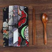 日式木質筷子勺子套裝戶外旅行成人便攜餐具