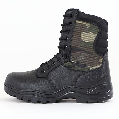 男款 迷彩橡膠止滑 網布 側拉鍊 專業安全鞋 高筒靴 工作靴 迷彩戰鬥靴 59鞋廊