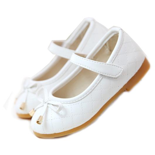 花童禮服 格紋車線蝴蝶結氣質公主鞋 娃娃鞋 軟膠底 橘魔法 現貨 白色皮鞋 深色皮鞋 畢業典禮
