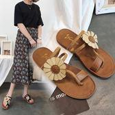 【新年鉅惠】人字拖女平底涼鞋夾趾防滑波西米亞沙灘鞋