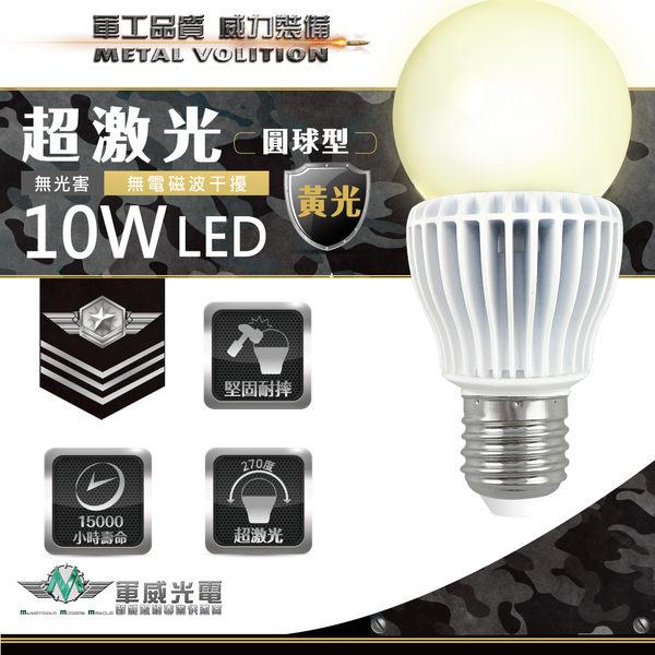 絕版品【軍威光電 Ez-Light】LED 10W 超激光燈泡 黃光