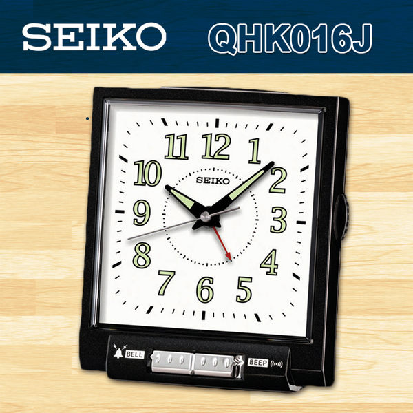 CASIO 手錶專賣店 SEIKO 精工 QHK016J 精緻指針型 可選擇式鬧鈴鬧鐘(靜音式秒針)