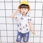 短袖襯衫童裝3-5歲7男童短袖襯衣2018新品4兒童襯衫6寶寶夏季衣服小男孩潮