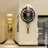 新中式鐘表掛鐘客廳現代簡約創意個性時尚中國風靜音大氣家用時鐘 NMS名購居家