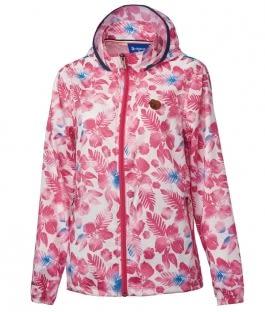 荒野 Wildland 防曬/ 抗UV 紫外線/ 薄外套 時尚印花外套 珍珠粉 (0A61983-28) 女