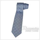 GUCCI經典緹花LOGO蠶絲菱格紋設計領帶(香檳藍)