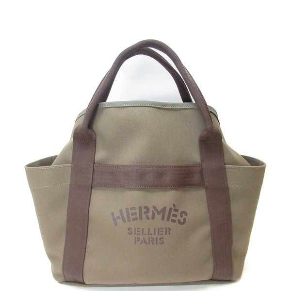HERMES 愛馬仕 黄褐色手提包單肩包 Groom Boot and Helmet Bag【BRAND OFF】