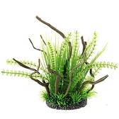 一佳寵物館 仿真灌木叢塑料仿真水草沉木魚缸水族箱水族造景裝飾高款大水草