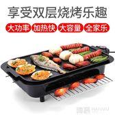 110V多功能電烤爐無煙不粘燒烤盤電碳兩用燒烤爐肉串電燒烤架 韓慕精品 YTL