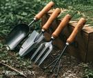 種菜工具 園藝木柄工具鏟子家用庭院花園戶外養花挖土鬆土種菜專用套裝【快速出貨八折下殺】