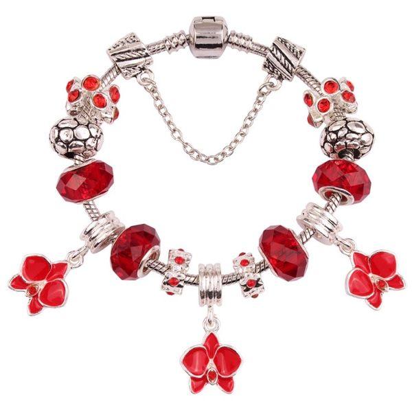 燦爛華麗水晶鑲鑽時尚串珠手鍊 潘朵拉系列 (0567)