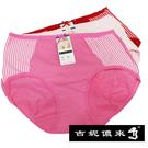 吉妮儂來舒適條紋中腰平口褲~6件組(隨機取色)