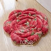 日式特色短毛絨玫瑰坐墊椅子墊保暖汽車墊【聚寶屋】