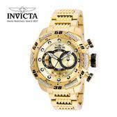 【INVICTA】新一代極致繩索腕錶 鋼鍊款 52mm - 全金色