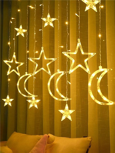 led星星燈小彩燈閃燈串燈滿天星網紅臥室少女心房間裝飾窗簾布置 童趣屋