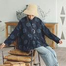 襯衫-色織緹花波點亞麻/設計家 SC373