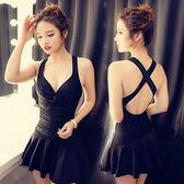 連體裙式遮肚顯瘦性感修身泳衣女鋼托