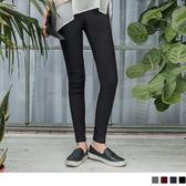OB嚴選《BA2732-》拼色鬆緊腰圍素色彈力修身窄管褲.4色--適 S~XL