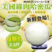 【果之蔬-宅配免運】美國皇冠綠哈密瓜X20台斤【6-8顆/箱】