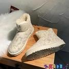 雪地靴 網紅雪地棉靴女2021年新款冬季皮毛一體學生百搭面包棉鞋加絨加厚寶貝計畫 上新