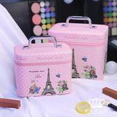 化妝箱 少女心小號便攜韓國可愛大容量化妝品收納包大號手提化妝包