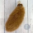 BRAND楓月 LOUIS VUITTON LV M66969 狐狸毛 尾巴造型 長條毛球 吊飾 鑰匙圈 包包配件