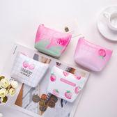日韓創意草莓零錢包 拉鍊迷你小錢包 鑰匙包【庫奇小舖】
