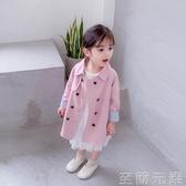 女童風衣春秋寶寶洋氣外套時尚秋季小女孩兒童中長款秋裝新款 至簡元素