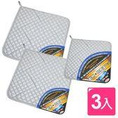 【AXIS 艾克思】高耐熱雙面銀膠隔熱墊(2大1小)_3入組