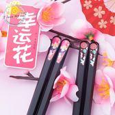 【中秋好康下殺】餐具日式尖頭筷子防滑合金筷筷子套裝筷子家用非實木骨瓷10雙