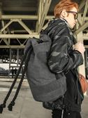 旅行抽繩帆布束口包袋水桶籃球包訓練包戶外運動健身背包男雙肩包 MKS宜品
