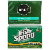 Brut傳統古龍水皂(3.5oz*2)*3+Irish Spring體香皂*12