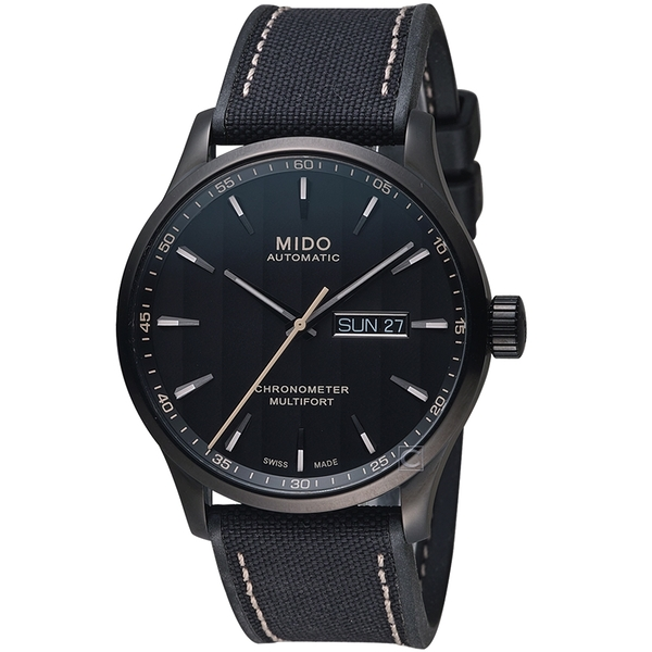 MIDO美度MULTIFORT CHRONOMETER天文台機械錶 M0384313705100  黑
