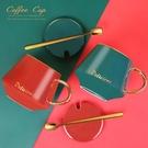馬克杯 馬克杯帶蓋勺創意個性潮流家用早餐燕麥片杯咖啡杯子陶瓷大容量女 暖心生活館