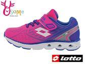 LOTTO女童運動鞋 反光系 風動減震 透氣慢跑鞋L8650#粉紅◆OSOME奧森童鞋/小朋友