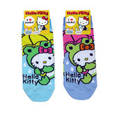 non-no儂儂褲襪《5入》日本製三麗鷗女短襪(青蛙kitty) 3713-323
